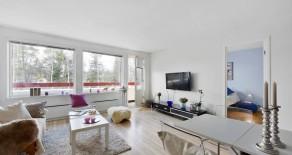 Vikersund: Lekker 2-roms leilighet i Hovdeskogen BRL*Solrik balkong*Utsikt*Garasje*