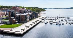 Nordre Jarlsberg Brygge: Lekker 4-roms frontleilighet*Sjøutsikt*Terrasse *Solrikt*2 garasjeplasser*Båtplass*Heis*
