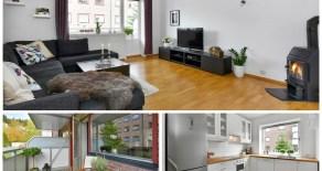 Bragernes – Lekker 3-roms med vestvendt balkong, reservert p-plass/garasjeleie – Sentralt – Tilnærmet trappefritt – Peis