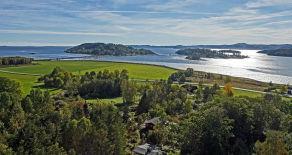Gyltesø/Sande ved Bjerkøya – Lys og trivelig hytte med skjermet uteplass, solrik beliggenhet og kort gange til fjorden.