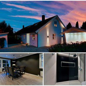Hokksund – Pen og betydelig oppusset halvpart av tomannsbolig med nytt og påkostet bad fra 2017, nytt elektrisk anlegg, garasje, velstelt tomt og solrik terrasse på ca. 30 kvm. Her kan man flytte rett inn!