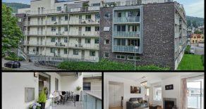Marienlyst Park/Strømsø Sentralt/Drammen – Lekker 2-roms eierleilighet med stor sydvendt terrasse – Garasje – Heis – Gasspeis – Trappefri adkomst – Nær togstasjon