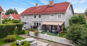 Eikenga/Lierbyen Familievennlig rekkehus over 3 plan – Garasje – P-plass – Solrik markterrasse – Barnevennlig – Sentralt