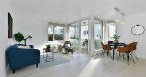 Rådhushaven/Bragernes Sentrum – Nyere 3-roms selveierleilighet – Garasje – Innglasset balkong – Heis – Trappefritt!