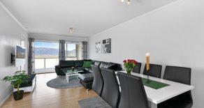 Tranby / Lier Pen 2-roms i 2.etg. med stor vestvendt innglasset balkong – Gode sol/utsiktsforhold – Oppvarming/varmtvann inkl.