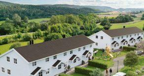 Sande/Skoger/Nær Drammen 8 av 8 solgt – Moderne rekkehus – 150 m2 – 5 sov – Stor hage – Carport – Sol – Familievennlig!